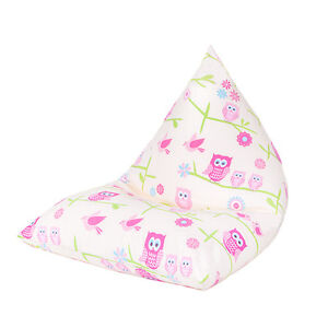 Fabulous Details About Owls Large Childrens Kids Pyramid Bean Bag Chair Gaming Beanbag Gamer Girls Unemploymentrelief Wooden Chair Designs For Living Room Unemploymentrelieforg