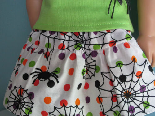 POLKA DOTS /& CUTE SPIDERS TIERED SKIRT fits American Girl Colorful Handmade!