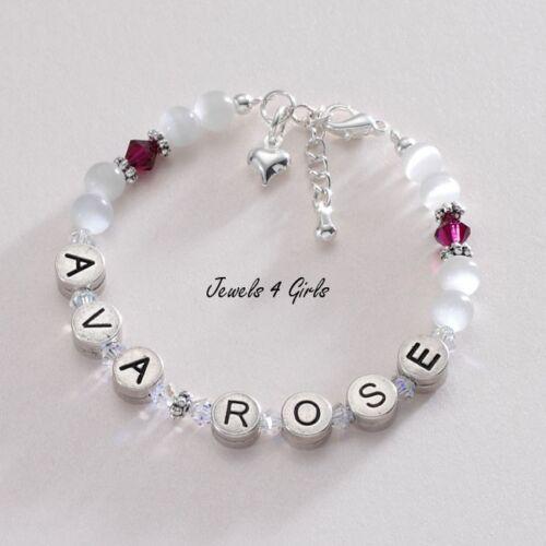Kinder Schmuck Mädchen Namen Armband mit Geburtssteine Einen Beliebigen