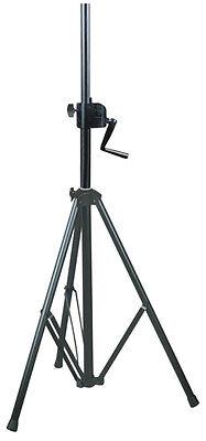 Dynamisch Njs Black 35mm Heavy Duty Steel Wind Up Tripod Speaker Stand - 60kg Max Njs063f