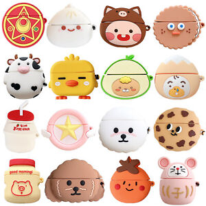 3D Cute Bear Dog Earphone Case Cover For Apple Airpods Pro 3 1 & 2 Charging