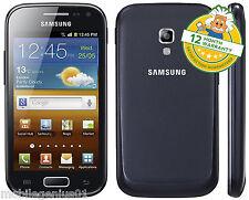 SAMSUNG GALAXY ACE 2 GT-I8160 da 4GB-Onyx Nero (Sbloccato) Grado B Smartphone