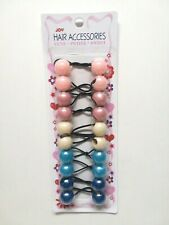 -GIRL/'S  PONYTAIL HOLDERS HAIR ACCESSORY  RUBBER ELASTIC 20MM 10 PC BALL -371