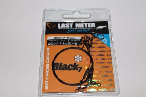 50cm Savage Gear Black 7 Trace 7 fädiges Edelstahlvorfach versch Längen 20cm