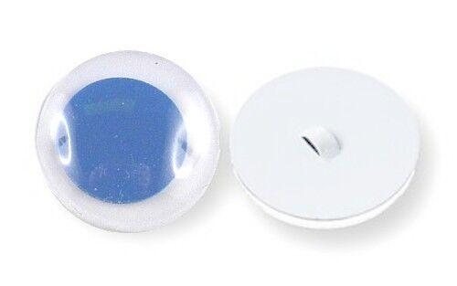 blau 6 Wackelaugen zum Annähen Ø 8 mm  Farbe Pupille