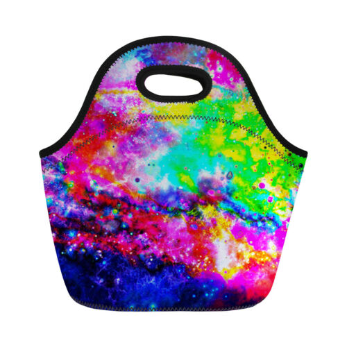 Galaxy Insulated Lunch Bag Thicken Cold Thermo Tote Bag Cooler Picnic Food Bag