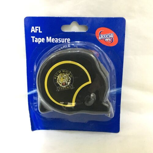 RICHMOND TIGERS AFL OFFICIAL FOOTY 8m TAPE MEASURE BUILDERS MEASURING TAPE