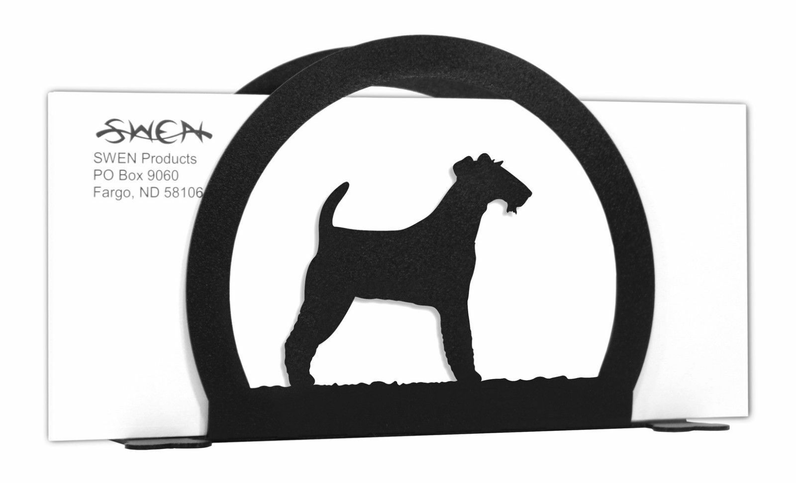 SWEN Products KEESHOND Dog Black Metal Welcome Sign