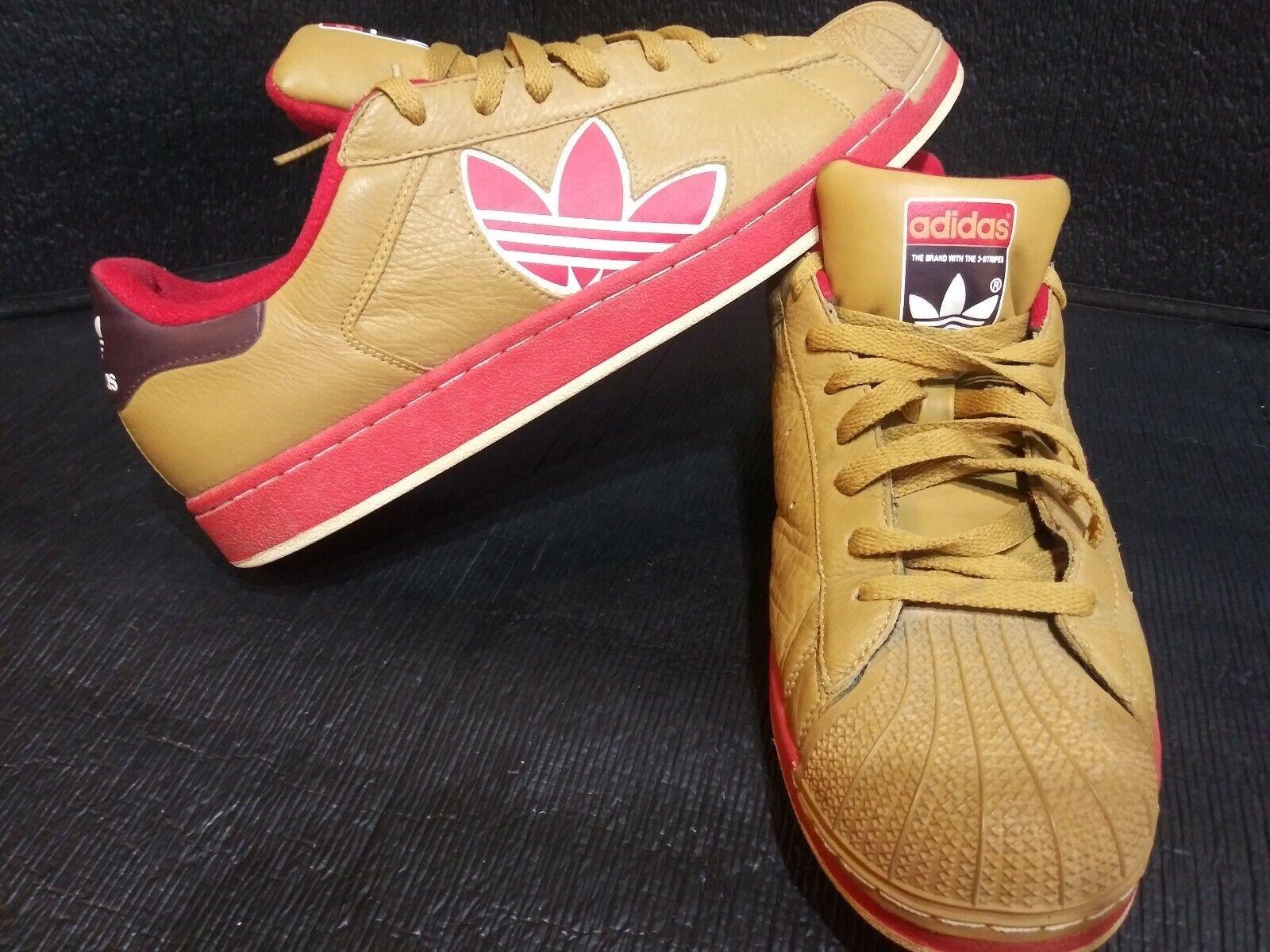 Adidas Original Superstar CB Trefoil Größe 13 rot braun Athletic schuhe Turnschuhe