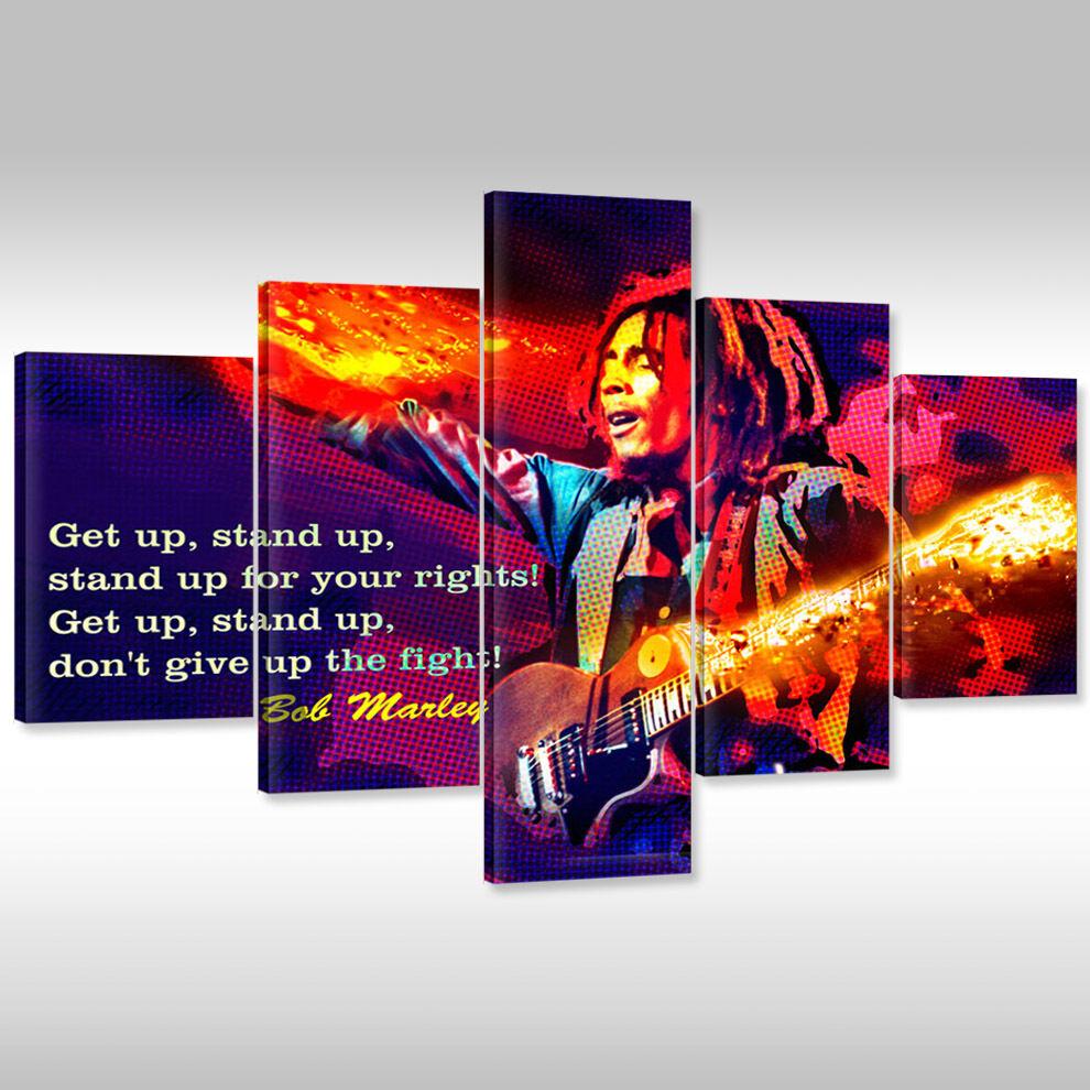 Quadro su tel TELA STAMPA POSTER POSTER POSTER FOTOGRAFIA ARTE cornice reggae musica 921a3c