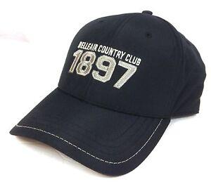 e97552f5136bf BELLEAIR COUNTRY CLUB FLORIDA HAT Black Nylon Athletic Golf Ball Cap ...