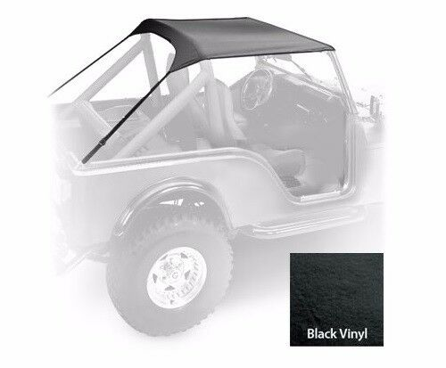 Smittybilt Standard Top in Durable Black Vinyl 1976-1986 Jeep CJ-7 90701