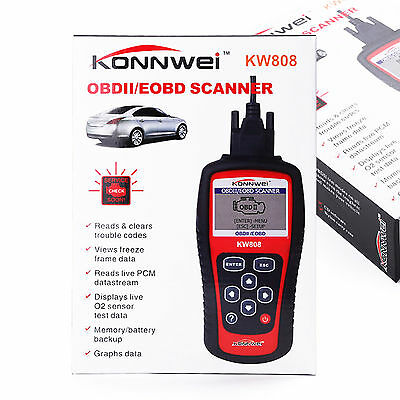 KW808 Car Diagnostic Scanner Code Reader Decorder CAN OBD2 VS Maxiscan MS509