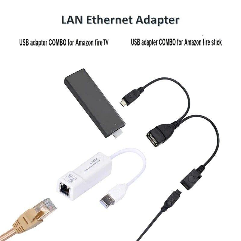 RONSHIN Electronics Buffering Reducing LAN Ethernet Adapter for  FIRE TV 3 or Stick GEN 2