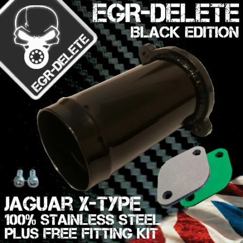 EGR REMOVAL KIT blanking plate Jaguar X-type Ford Mondeo 2.0 2.2 TDCi BLACK