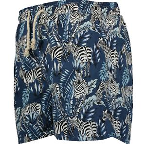 Mens Havacoa Swim Shorts Trunks Teal Zebra New RP  Boxer M, L,  XL, XXL, XXXL