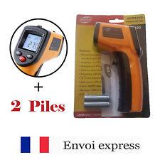 Thermomètre Laser infrarouge + piles rechargeables -50° à 380°C LCD rétroéclairé