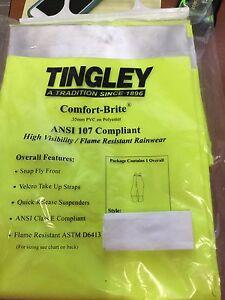 TINGLEY COMFORT BRTIE FLAME RESISTANT RAINGEAR OVERALL SIZE XL