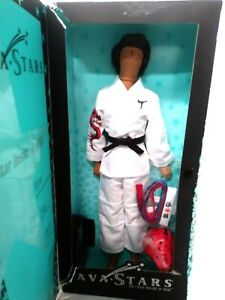 """*NEW* Ava Stars Doll Male Rockstar 12/"""" Collectible with stand"""