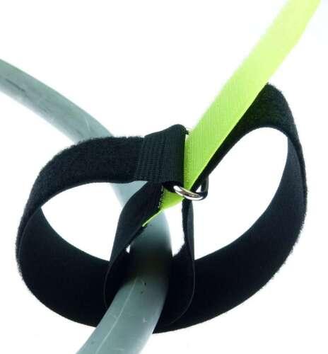 40 Kabelbinder Kabelklett 50 cm x 50 mm neon gelb Klettband Klettkabelbinder Öse