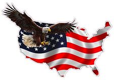 "American Eagle United States Xxx Large Decal  36"" x 50"" Free Shipping"