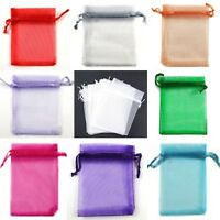 10 Pcs 9x12 cm Organza Wedding Favour/Gift Bags, Silk Jewellery Pouch 21 Colours