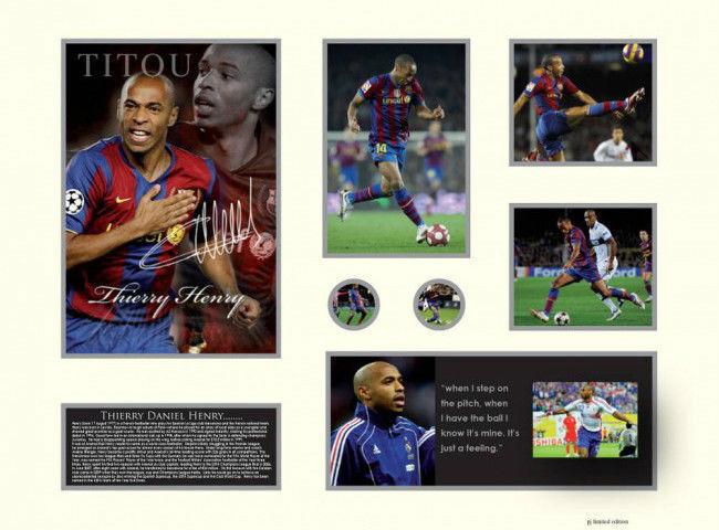 Nuevo Thierry Henry Firmado Barcelona Edición Limitada Memorabilia
