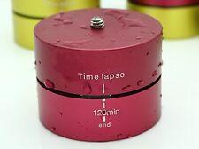 REGNO Unito negozio! cameraplus ® 360 ° 120 minuti la panoramica rotazione Tripod Time Lapse-Rosso