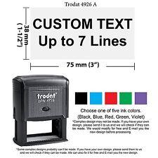 Trodat 4926 Large Custom Self Ink Rubber Stamp