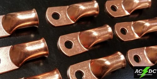 4//0 gauge Ring 3//8 Hole Terminal BATTERY Lug Bare Copper Un-insulated AWG 5