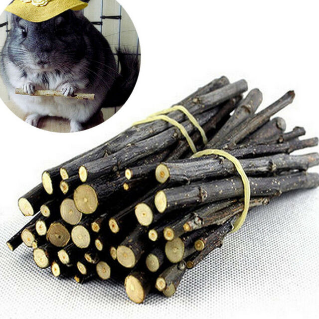 Apple Wood Chew Sticks Twigs For Small Pets Hamster Guinea Pig Parrot Rabbit Toy