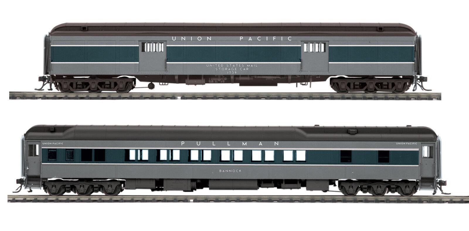 Ho Mth Union Pacific 2 coche pasajeros Set para 2 Riel de peso pesado de la pista 80-40005