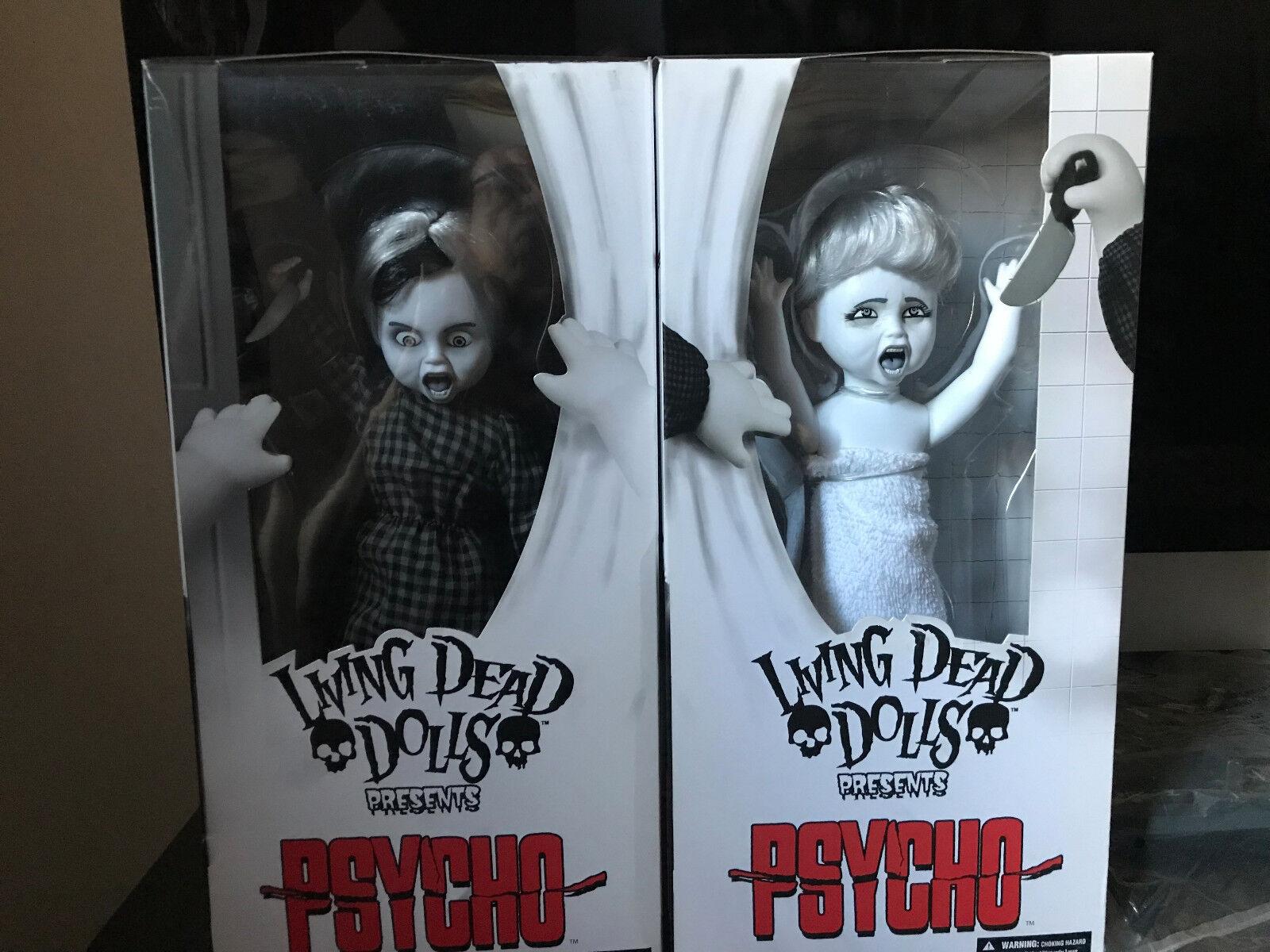 LIVING DEAD DOLLS PSYCHO DOLLS SET MARION VICTIM & NORMAN BATES NEW