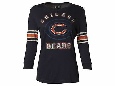NWT NFL Chicago Bears Womens VF Sweet Victory 3/4 Long Sleeve Raglan Shirt