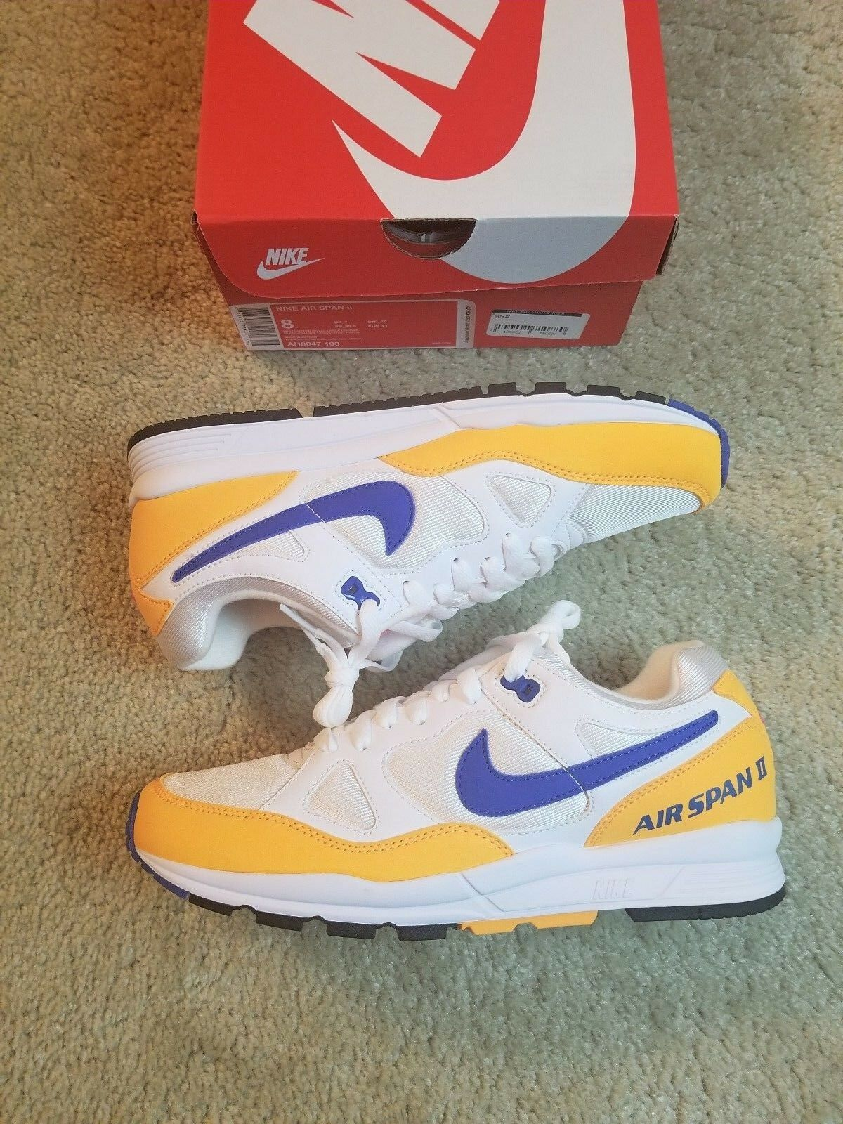 NEW Men's Nike Air Span II Athletic Fashion Casual Sneakers AH8047-103 SIZE 8