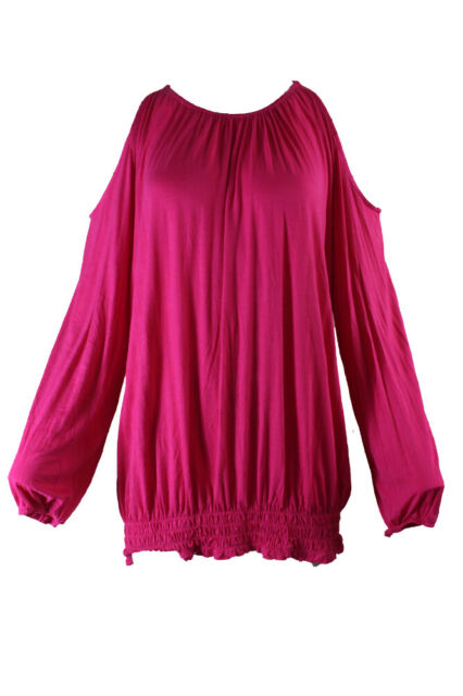 Inc International Concepts Intense Rose à Smocks Cold-Shoulder HAUT S