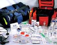 First Responder Paramedic Trauma Emergency Medical Kit Fully Stocked Bag