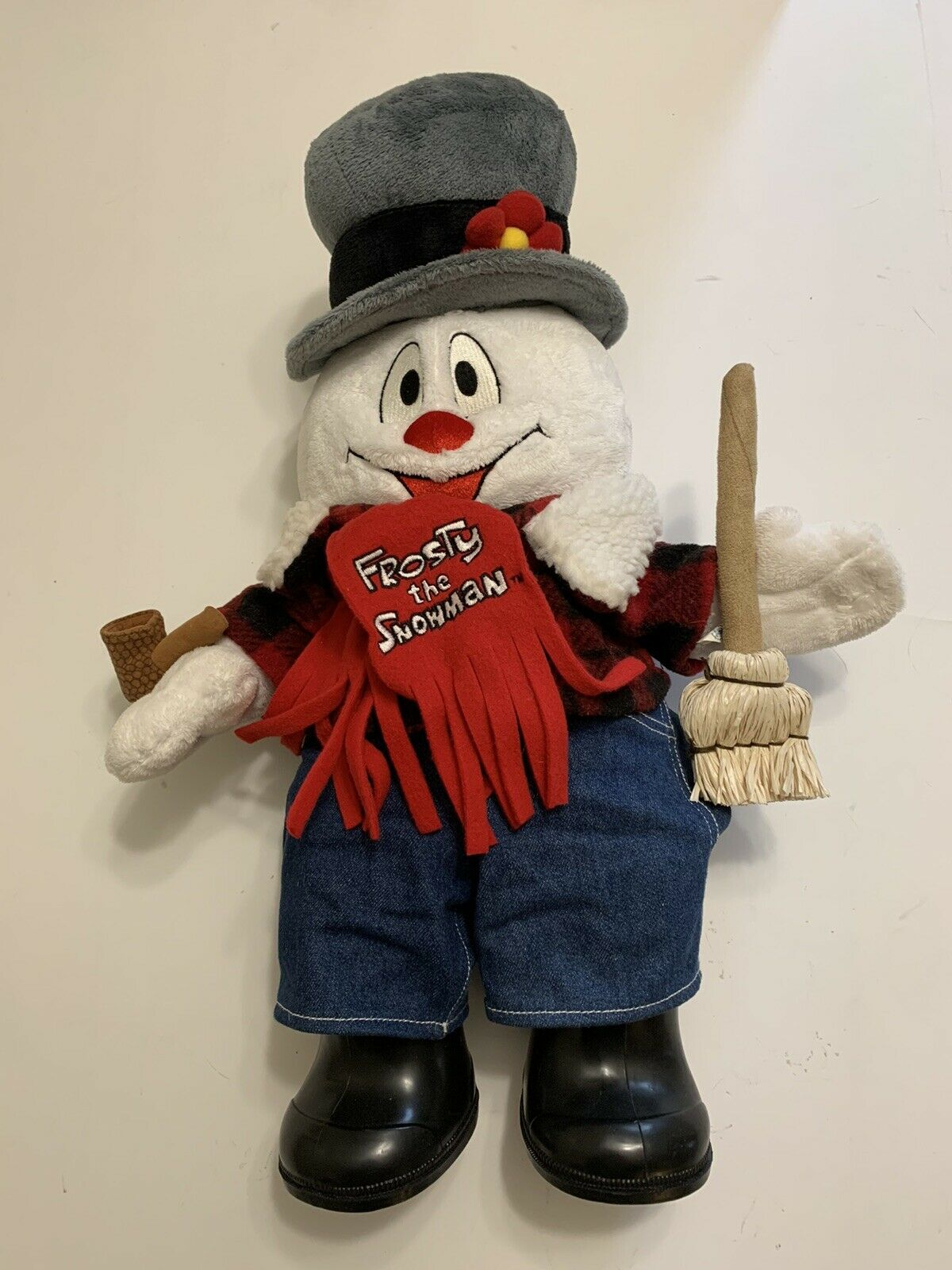 Frosty The Snowman BUILD A BEAR 18  Lights Up,Jeans,Shirt,Scarf,Broom,Pipe,schuhe