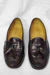4710578465e Image is loading COLE-HAAN-Brown-Leather-Pinch-Tassel-Loafers-Mens-