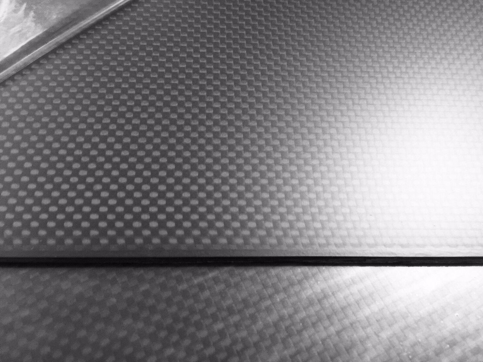 2mm Carbon Sheet 3k  Matte Finish 500x500mm