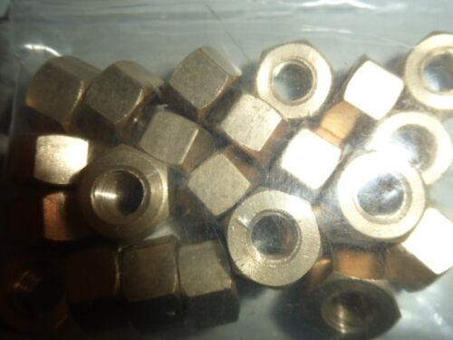 "BRASS MANIFOLD NUTS 12No 7//16/"" UNF"