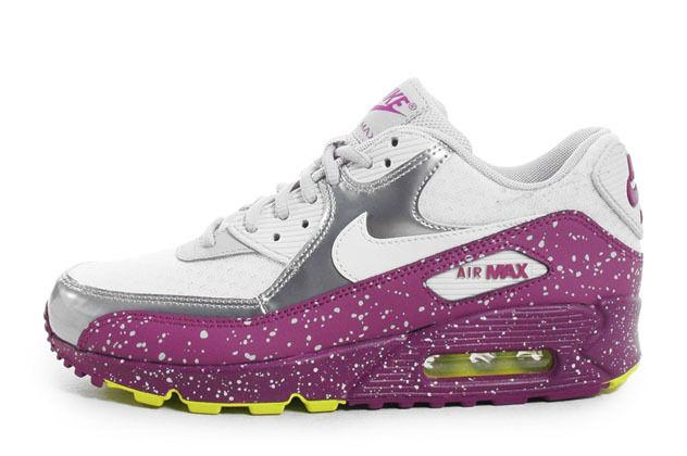 Nike Wmns Air Max 90 Splatter Pack Running Wolf Grey Grape 325213 030