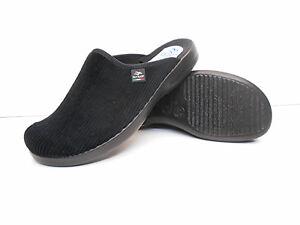 Fly-Flot-Groesse-45-Pantoffeln-waschbar-Hauspantoffeln-Cord-schwarz