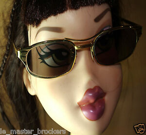 Lunettes-Sunglasses-Vintage-GIGNET-Ray-ban-B-amp-L-Bausch-amp-Lomb-W1396-Gold-Metal