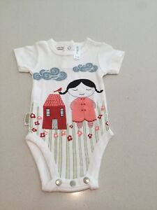 Clothing, Shoes & Accessories Girls' Clothing (newborn-5t) Sensible New Sookibaby Girl Short Sleeve Bodysuit Size 000 Good For Antipyretic And Throat Soother