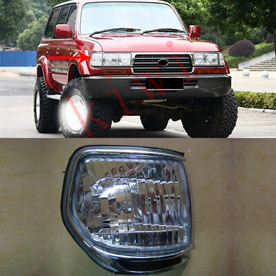 Auto Replacement Parts 2pcs Corner Light Lamp Indicator fit for Toyota Land Cruiser FJ80 LC80 1991-1997