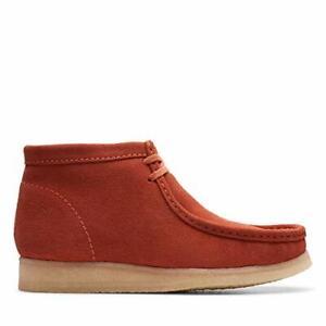 472a6245fcd Details about Clarks ORIGINALS Mens Wallabee Boots Burnt Orange Suede -  Size 9 / RRP £120