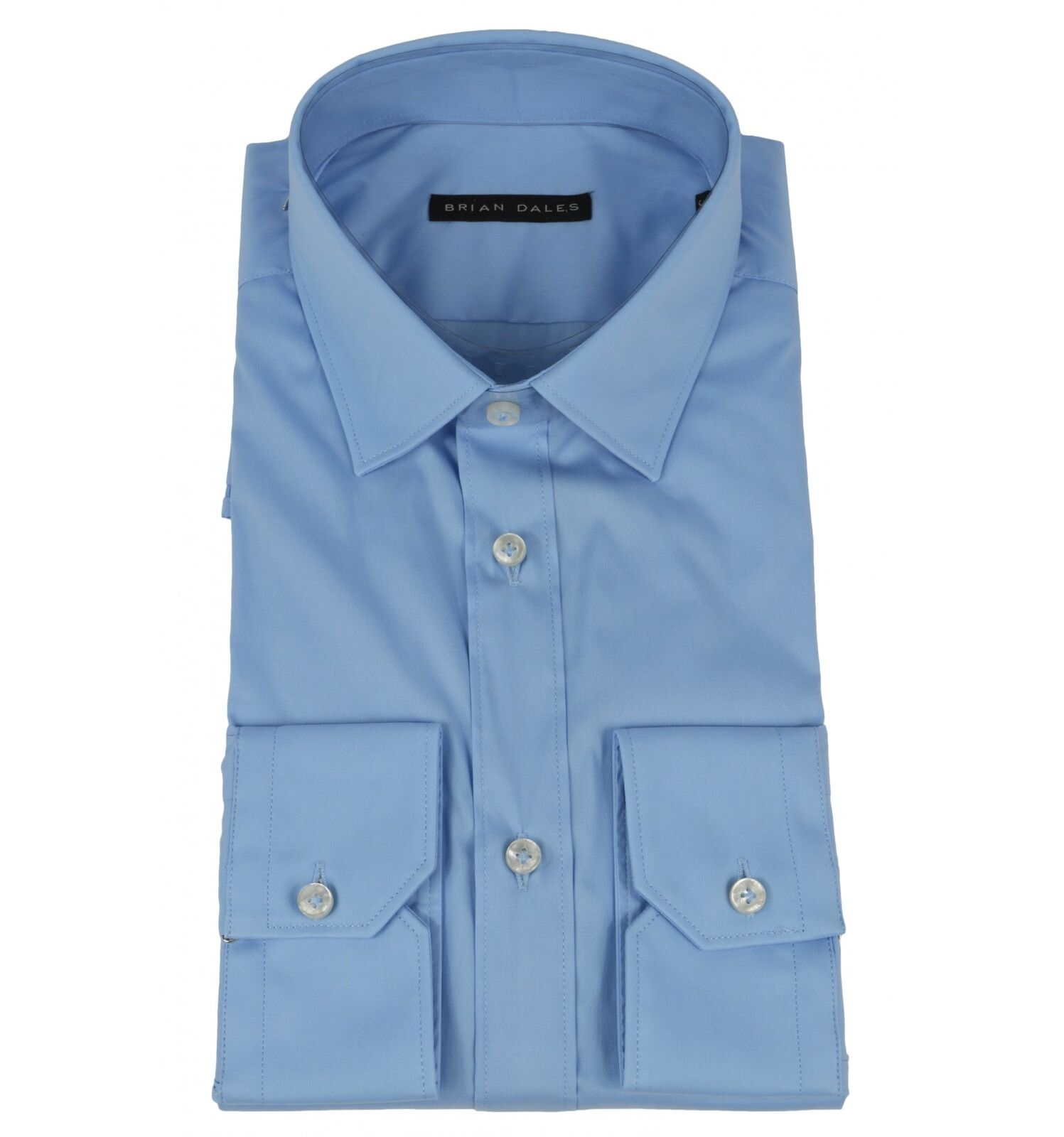 BRIAN DALES uomo camicia celeste slim fit ST6000
