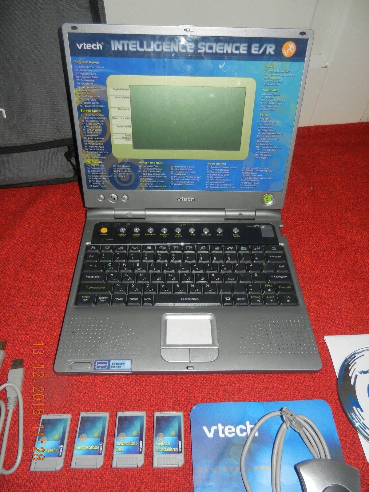 Vtech INTELLIGENCE SCIENCE E R mit CD Software+3 Kasset+Maus+Tasche ab 9 wie NEU