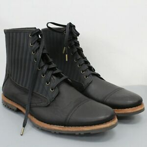 Timberland Boot Company Cap Toe Nine Iron Black Men's Boots size 10 & 11 *READ*